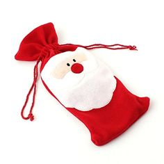 Christmas Necessary Money Santa Claus Bottle Bag Gift Bags: Amazon.co.uk: Kitchen & Home