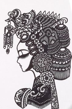 Hi and welcome to my page about paper cutting! Paper cutting involves using scissors or a craft knife to cut shapes in paper and turn it into. Ethno Design, Chinese Paper Cutting, Paper Cutting Patterns, Paper Animals, Paper Artwork, Art Techniques, Collages, Stencils, Coloring Pages