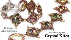 "This video tutorial from The Potomac Bead Company teaches how to make Allie Buchman's ""Crystal Kites"" bracelet bead weaving design. Find a list of supplies i..."