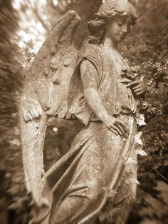 Angel from Highgate Cemetery in London