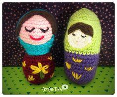 Faites de beaux rêves !!! Poupées russes #crochetlovers #dmcnaturajustcotton #crochetofinstagram #amigurumi #amigurumis #lovelivecrochet #poupéesrusses #crocheting #amigurumimatryoshka by crochetina_