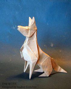 Origami Dog by Andrej Ermakov