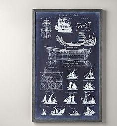 Vintage nautical art