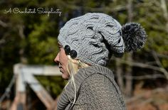 Ravelry: Hourglass Cabled Beanie & Slouch pattern by Jennifer Pionk