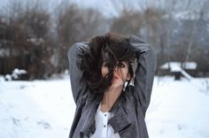 Winter, frost, hair, girl, photography, flash, cold, lips, shiny jacket, fashion, gif, DTPhotography