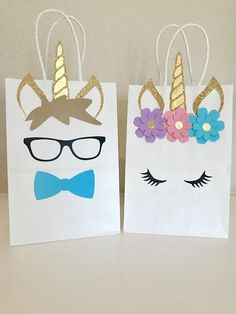 Unicorn Fairytale Boy and Girl Birthday Party Favor Bags🦄 Perfect addition to your Unicorn themed Party!Unicorn Party Favors - It doesn't get much cuter than unicorn goody bags, people.Decorate your own gift bags Unicorn Themed Birthday Party, Unicorn Birthday Parties, Birthday Party Favors, First Birthday Parties, Birthday Party Decorations, Unicorn Party Bags, Fairytale Birthday Party, Party Favors For Boys, 7th Birthday Party For Girls Themes
