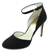 Michael Kors Women's Black Suede Georgia Ankle Strap Heels