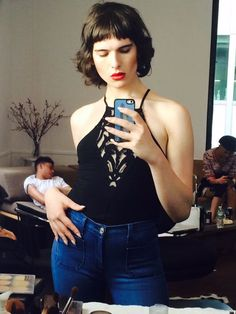 Hari Nef is the second transgender model to be signed by IMG Models. Photo via Twitter.