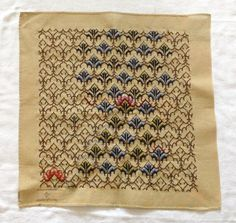 Bargello Needlepoint Canvas by Colonial Williamsburg Large DIY Unfinished Vintage Needlework Bargello Needlepoint, Needlepoint Canvases, Cross Stitch Patterns, Knitting Patterns, Wool Thread, Colonial Williamsburg, Plastic Canvas, Shades Of Blue, Needlework