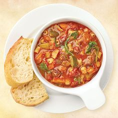 Slow-Cooked Beef Minestrone - Wegmans I put carrots, zucchini,celery & onion Slow Cooker Recipes, Crockpot Recipes, Soup Recipes, Cooking Recipes, Slow Cooking, Chili Recipes, Seafood Recipes, Free Recipes, Wegmans Recipe