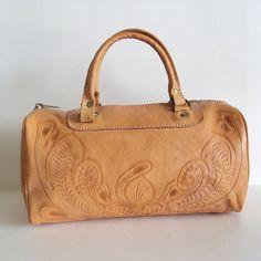 Vintage Leather Hand Tool Satchel Leather Bag