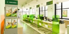 banking office sberbank_branch_sit_down_tellers Cheap Furniture, Discount Furniture, Office Furniture, Furniture Design, Furniture Stores, Kitchen Furniture, Furniture Ideas, Bank Interior Design, Office Reception Design