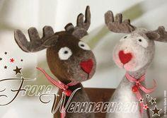René als Weihnachtspostkarte 5 Stück plus Bonus von filzfrieda ... handgefilzte fröhlichmacher! auf DaWanda.com