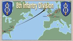 Map of 8th infantry movement across germany