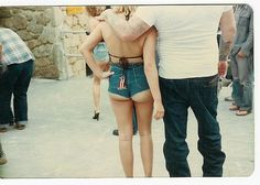1970s Daytona Beach Harley cut-off shorts