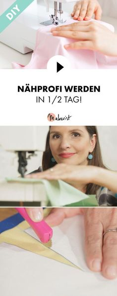 Werde zum Nähprofi Sewing, curling, serging, rounding and lining sew: sewing pro will be explained step by step in the video course via Makerist. Sewing Projects For Beginners, Knitting For Beginners, Knitting Projects, Diy Projects, Techniques Couture, Sewing Techniques, Crochet Blanket Patterns, Baby Knitting Patterns, Curling
