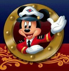 Captain Mickey - Disney Cruise Line Mickey Mouse Pictures, Mickey Mouse Art, Mickey Mouse And Friends, Minnie Mouse, Mickey Head, Disney Magic, Disney Fun, Disney Cruise Door, Disney Dream Cruise