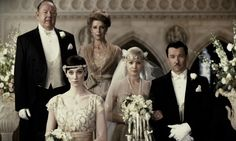 Pin for Later: The Ultimate Movie and TV Weddings Gallery The Great Gatsby Don't you wish you had gotten to see the wedding scene between Daisy (Carey Mulligan) and Tom (Joel Edgerton). At least we have this amazing still. Movie Wedding Dresses, Wedding Movies, Wedding Gowns, Wedding Parties, Wedding Veil, Bridal Gowns, The Great Gatsby Movie, Great Gatsby Wedding, Daisy Great Gatsby