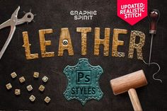 Leather Layer Styles For Photoshop Graphic Spirit Tools and Elements Add ons Photoshop For Photographers, Photoshop Tips, Photoshop Design, Photoshop Photography, Photoshop Tutorial, Creative Photography, Nice Photography, Popular Photography, Lightroom