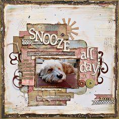 How To Scrapbook About Your Dog - Part 2 - Memory Keeping Ideas Dog Scrapbook Layouts, Album Scrapbook, Scrapbook Templates, Scrapbook Designs, Scrapbook Sketches, Baby Scrapbook, Scrapbook Paper Crafts, Couple Scrapbook, Digital Scrapbooking Freebies