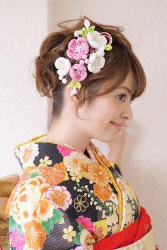 お花の髪飾り2点セット