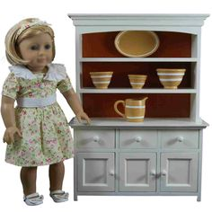 "Yellowware Collection Kitchen Accessory Set for 18""  Girl Dolls"