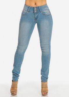 KABA Light Blue Butt Lifting Skinny Jeans