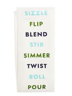 swirl peel slice kitchen towel - kate spade new york
