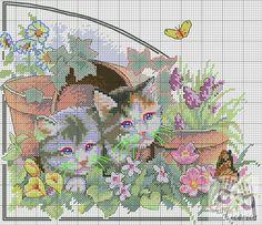 Gallery.ru / Foto # 3 - Seasons gatos - sweetCrossStitching
