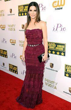 Sandra Bullock in Lanvin at the 2014 Critics' Choice Awards