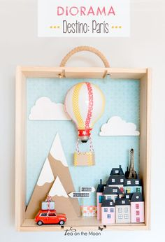 Looking for the best ideas for your school's diorama project? These are some of the easy DIY projects you can do in making your own diorama. School Projects, Craft Projects, Diy For Kids, Crafts For Kids, Diy And Crafts, Paper Crafts, Shadow Box Art, Altered Art, Altered Tins