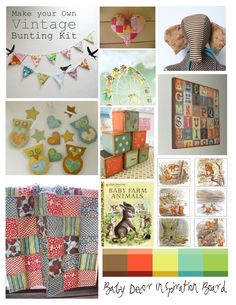 """My inspiration board as I prepared for """"Bean's Arrival"""""""