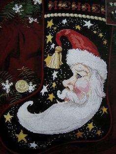 3370a5a9c90 49 Best Christmas Stockings Vintage Needlepoint Cross Stitch ...