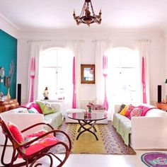 too pink, but could look cool with chocolate brown walls and geometric, pale-patterned curtains
