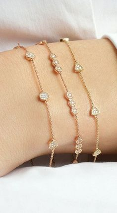 Simple station statement! Which style is your favorite? #diamonds #bracelets #danarebecca