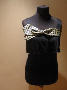 upcycled camisole with repurposd necktie