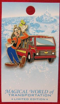 GOOFY Backlot Tour Bus MAGICAL WORLD of TRANSPORTATION LE DISNEY PIN