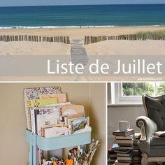 Liste de juillet - Zalinka pour organiser et décorer la maison