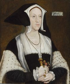 Early-Mid 16th Century, Lady Margaret Wotton, Marchioness of Dorset, painted by a follower of: Hans Holbein The Younger. The Weiss Gallery, London.