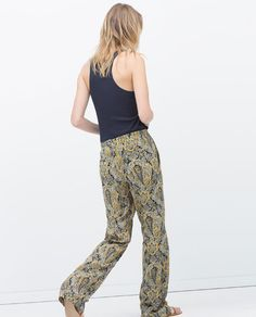 ZARA - WOMAN - STRAIGHT PRINT TROUSERS WITH POCKETS