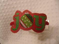Joy Headband Slider by DieCutHeaven on Etsy