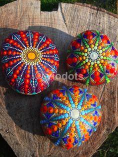 Mandala Stones, handpainted