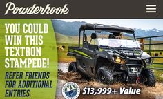 Union Sportsmen Refer-A-Friend Sweepstakes - Win Textron Stampede Refer A Friend, Labor Union, Instant Win Games, Good Buddy, Monster Trucks, Friends, Giveaway, Join, Masons