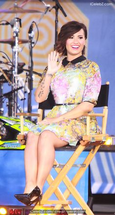 Demi Lovato Appears on the 'Good Morning America' 2014 Summer Concert Series to talk about the upcoming 'Demi World Tour' http://icelebz.com/events/demi_lovato_appears_on_the_good_morning_america_2014_summer_concert_series_to_talk_about_the_upcoming_demi_world_tour_/photo1.html
