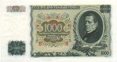Bankovky NBČS (1926-1939) - Papírová platidla, bankovky Nasa, Homeschool, Money, Personalized Items, Retro, History, Nostalgia, Silver, Neo Traditional