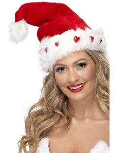 Tonttulakki valoilla. Laadukas, kuohkea, mahtavan upea ja hieno tonttulakki, joka sytyttää joulun valot päähäsi.