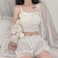 Cute Casual Outfits, Pretty Outfits, Girl Outfits, Fashion Outfits, Aesthetic Fashion, Aesthetic Clothes, Kawaii Fashion, Girl Fashion, Ropa Color Pastel
