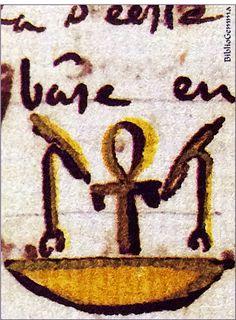 "Ankh con cesta. Dibujo de Jean Françoise Champollion.  Ankh with a basket. A drawing from Jean Françoise Champollion.  Detalle/detail from ""Cuaderno de Notas de Champollion"".  #bibliogemma#amorallibro#arqueologia#archeology#facsimil#facsimile#libro#book#arte#art#joya#jewel#raro#rare#egipto#egypt#egiptologia#egyptology#momias#mummies#jeroglifico# hieroglyph#champollion"