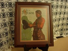 Stetson Hat Original Advertisement Poster by AtticFanaticUS on Etsy