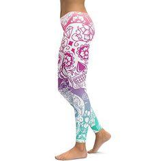a8cfe8c8d9a0f Plus Size Yoga Leggings – Curvy Fashion Queen Gothic Leggings, Skull  Leggings, Grey Leggings
